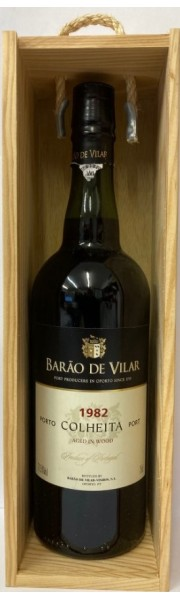 1982 Colheita Port Barao De Vilar Portugal 75cl In Wooden Gift Box