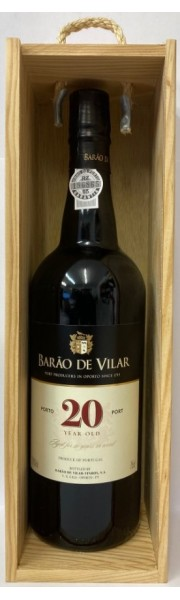 20 Year Old Tawny Port Barao de Vilar 75cl in Wooden Gift Box