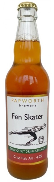 Fen Skater Hoppy Pale Bottle Conditioned Ale   4.0% vol Papworth Brewery 1 x 500ml bottle